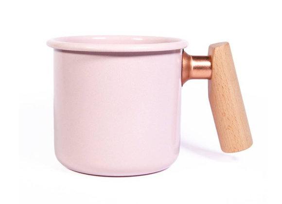 Truvii Handmade Enamel Coffee Mug - PINK (400ml)