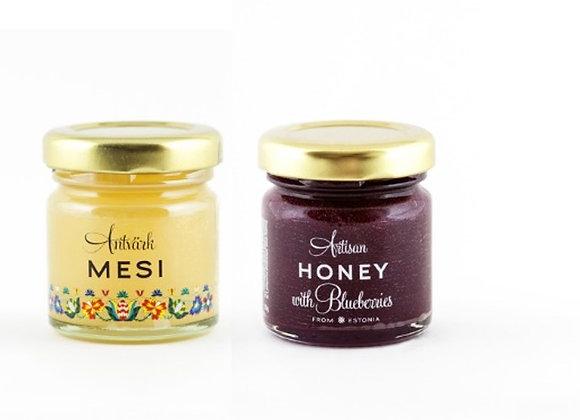 Artisan Honey (Twin pack : 50g blueberries + 50g pure)