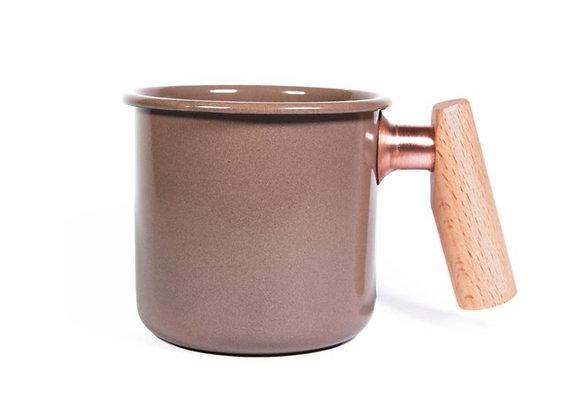 Truvii Handmade Enamel Coffee Mug - Choco (400ml)