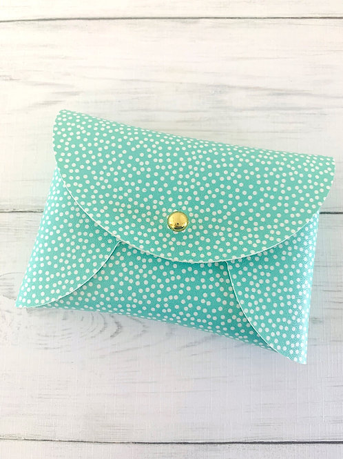 Dotty Mint Mini Pouch