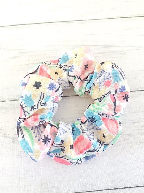 Pretty Floral Scrunchie