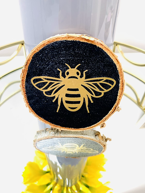 Mini Wood Slice - Bee