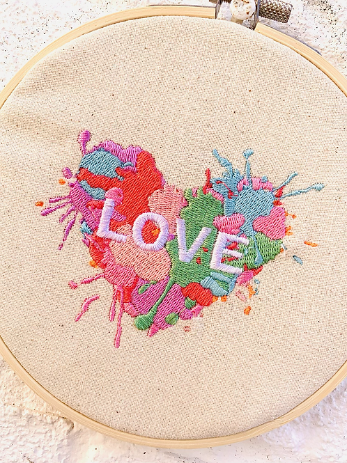 LOVE Embroidery Hoop Wall Hanging