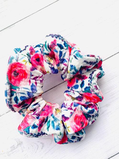 Fancy Floral Scrunchie
