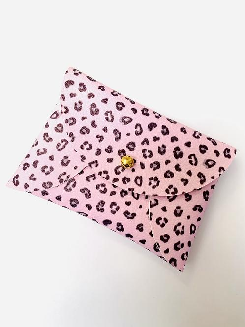 Pink Leopard Mini Pouch