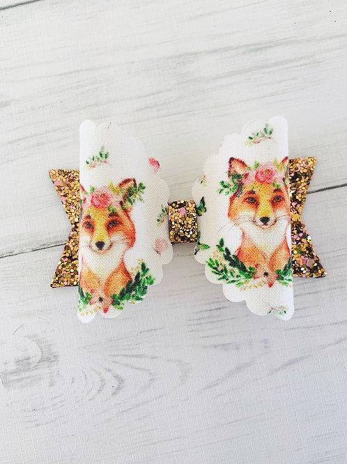 """Autumn Fox Bow 3.5"""""""