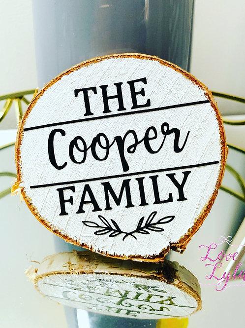 Mini Wood Slice - Family