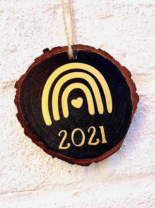 Mini Wood Slice - Rainbow 2021