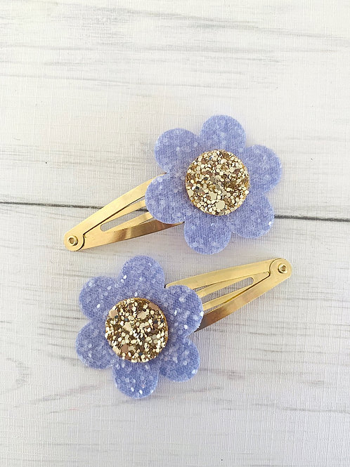Flower Snap Clip Pair