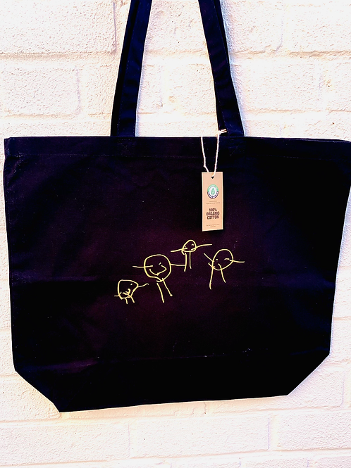Tote Bag With Own Drawing/Writing