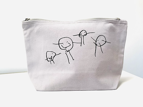 Medium Wide Base Accessory Case With Own Drawing/ Writing