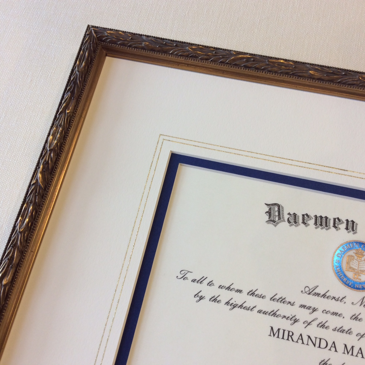 Diploma Framing & Mat Decoration
