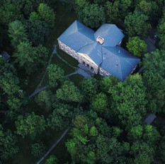 Bird's eye view of Lewis Hall
