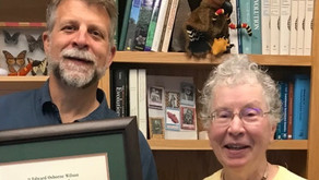 Butch was awarded E. O. Wilson Naturalist Prize