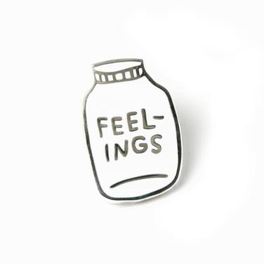 Bottled Up Feelings pin