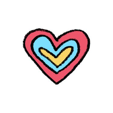 Handdrawn Radiating Heart