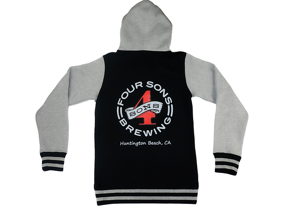 Four Sons Varsity Zip Up Hoodie