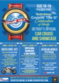 Cruisin  6th Annual event agenda backsid
