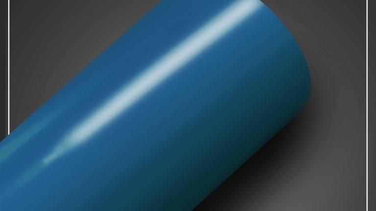 Adesivo brilhoso Azul Riviera