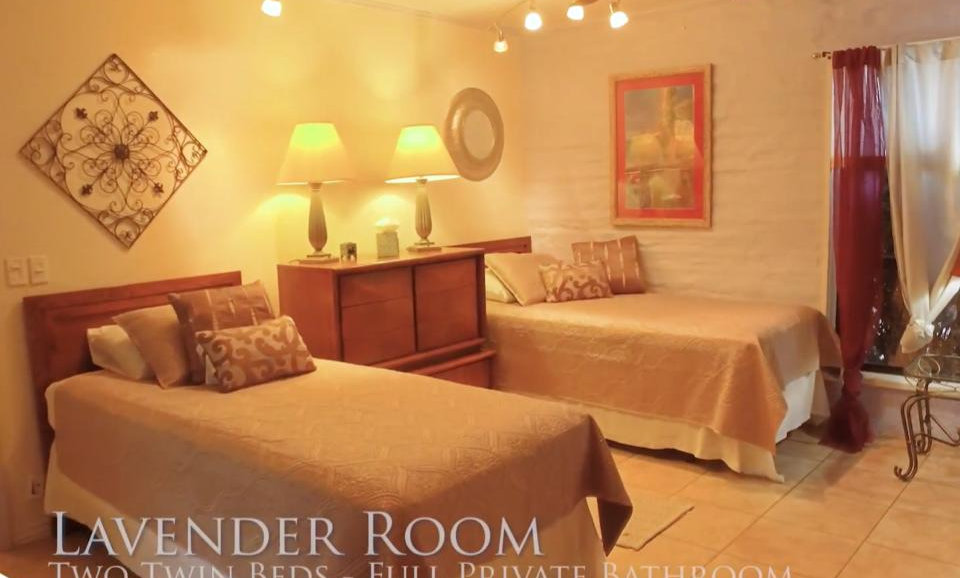Lavender Room: 2 Twin Beds with Full Private Bath