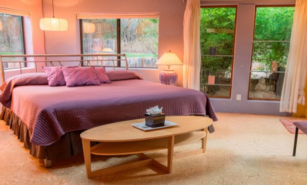 Master Lavender Suite: King Bed with Full Private Bath