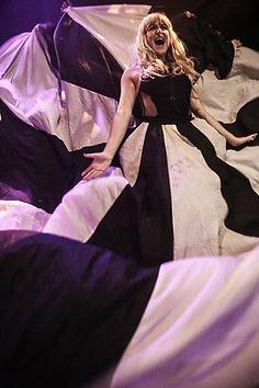 Slamboree dance leader Liz West with her unfeasibly large dress