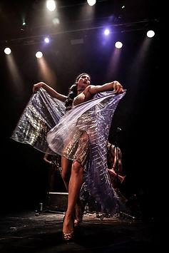 Aurora Starr peforming on stage with Slamboree