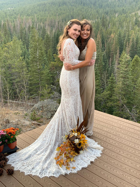 Ashely's wedding in Allure Bridal Gown