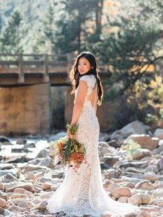 Jeni's Wedding in Watters gown
