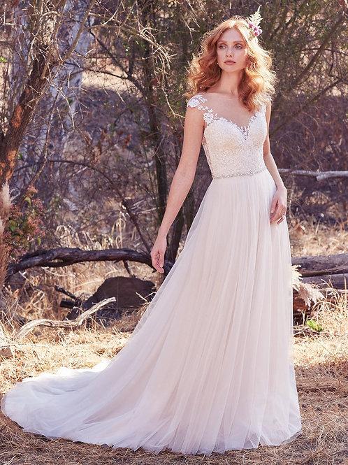 SONJA BY MAGGIE SOTTERO WEDDING DRESS/ SIZE 8