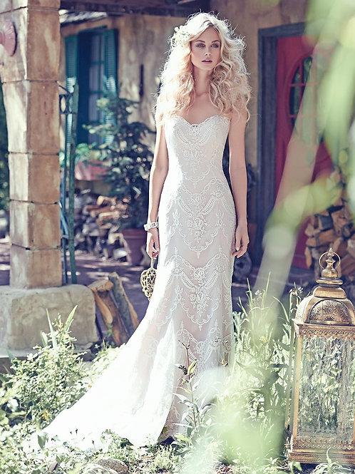 KIRSTIE BY MAGGIE SOTTERO WEDDING DRESS/ SIZE 8