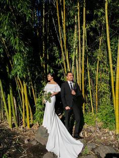 Jaena's wedding in Watters Gown