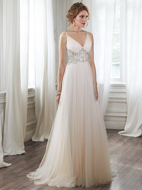 PHYLLIS BY MAGGIE SOTTERO WEDDING DRESS/ SIZE 12
