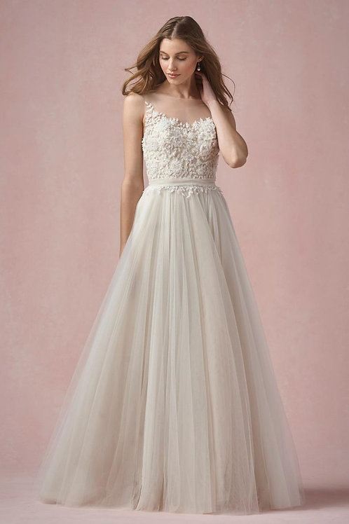 ELODIE BY WILLOWBY WEDDING DRESS/ SIZE 10