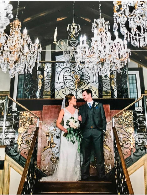 Morgan's wedding in Maggie Sottero Gown