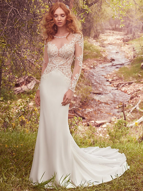 BLANCHE BY MAGGIE SOTTERO WEDDING DRESS/ SIZE 6
