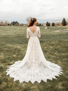 Shelby's wedding in Allure Bridal Gown
