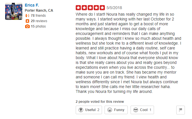 Yelp Reviews- Erica F