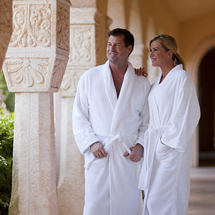 spa robes couple