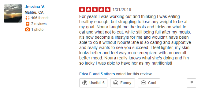Yelp Reviews- Jessica V