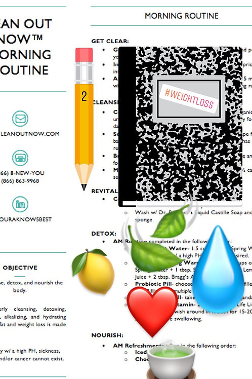 LEAN OUT NOW™ MORNING ROUTINE