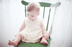 Dziecko w zielone krzesło