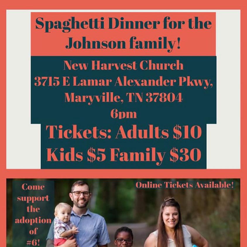 Johnson Family Spaghetti Dinner Fundraiser