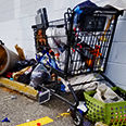 Abandoned Homeless Shopping Cart by Western Cart