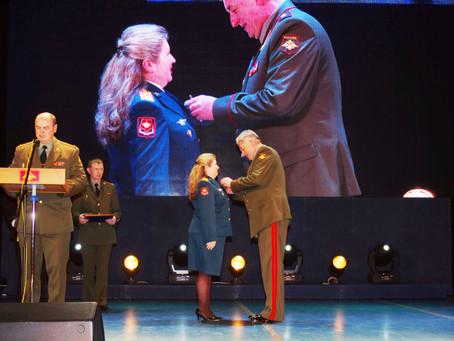 Командующий войсками ЦВО В. Б. Зарудницкий поздравил женщин с 8 Марта