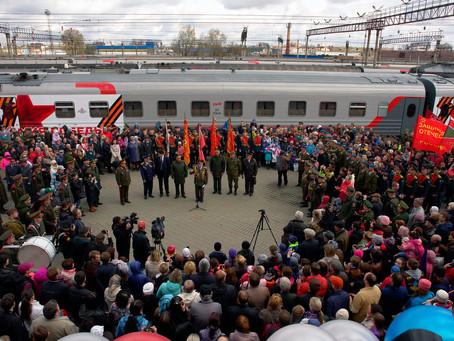 Поезд Победы прибыл в Екатеринбург