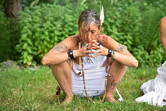 priestess in prayer