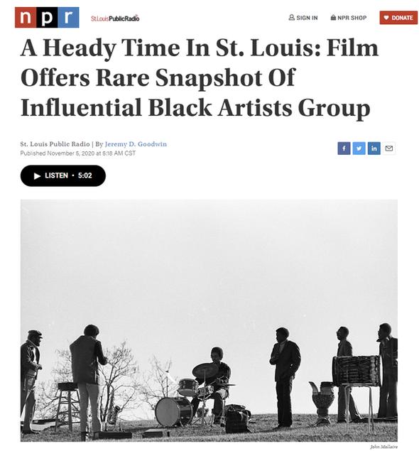 Black Artists' Group Documentary-NPR