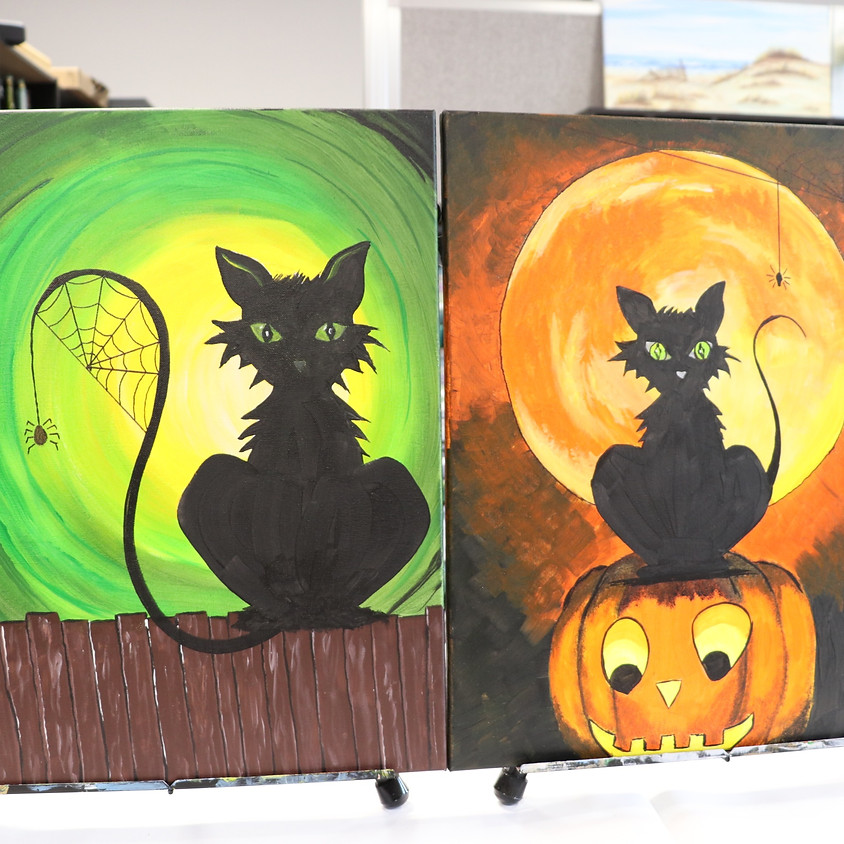 Canvas Paint: Halloween Cat