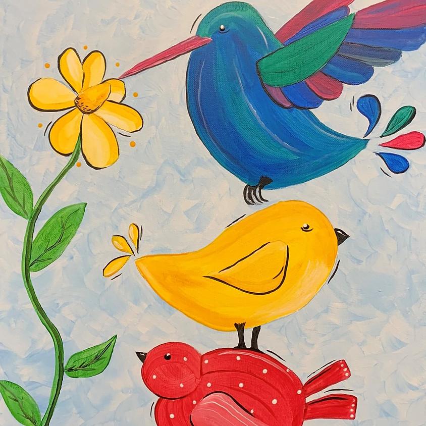 Canvas Paint: Three Birds
